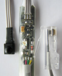 IRRX with electronics and connector