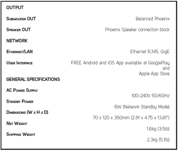 B160S Specifications 2 V2-428