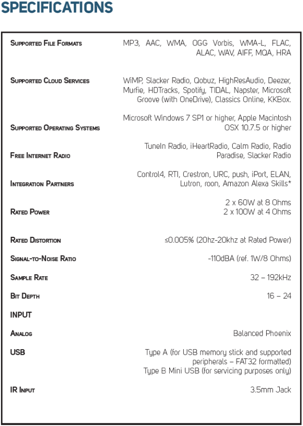 B160S Specifications V2-407